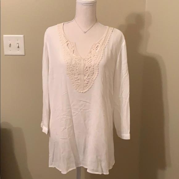 90df18771f4 NWT Magnolia Grace Lace Cream Tunic Size XL